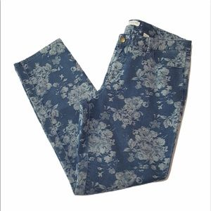 Coldwater Creek Natural Fit Floral Jeans Size 10